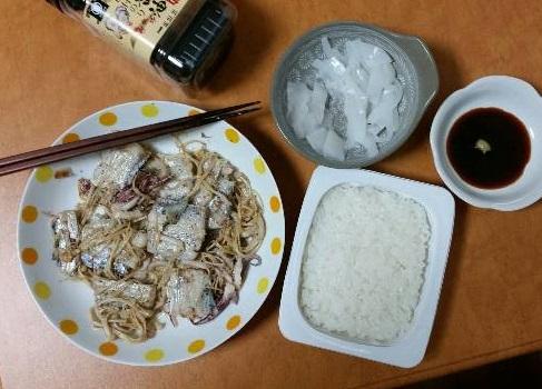 アオリイカ、太刀魚の料理