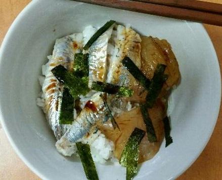 メバルとアジの海鮮丼